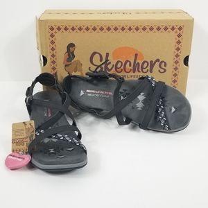 Sketchers Reggae ankle buckle women's sandal Sz 8